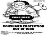 Consumer Protection Act -1986