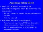 Argentina before Per ón