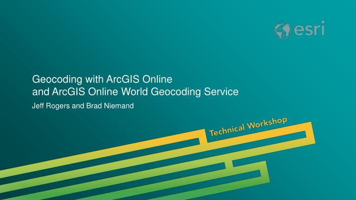 geocoding with arcgis online and arcgis online world geocoding service n.