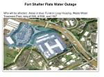 Fort Shafter Flats Water Outage