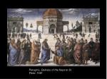 Perugino, Delivery of the Keys to St. Peter , 1481