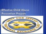 Effective Child Abuse Prevention Projects