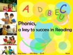 Phonics, a key to success in Reading