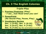 Ch. 3 The English Colonies