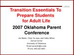 Transition Essentials To Prepare Students for Adult Life