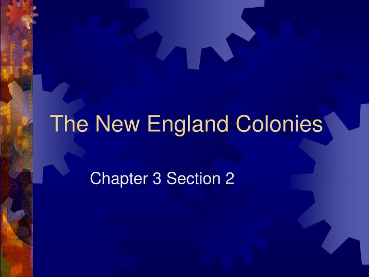 the new england colonies n.