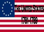 The United States 1781-1789