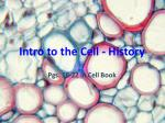 Intro to the Cell - History