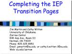 Completing the IEP Transition Pages