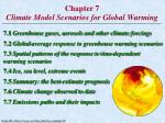 Chapter 7 Climate Model Scenarios for Global Warming