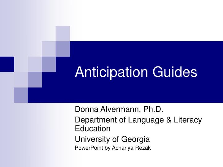 anticipation guides n.