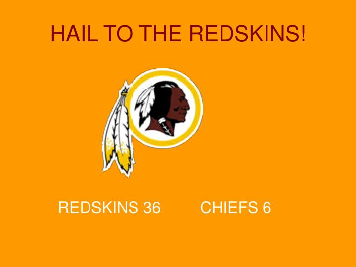 hail to the redskins n.