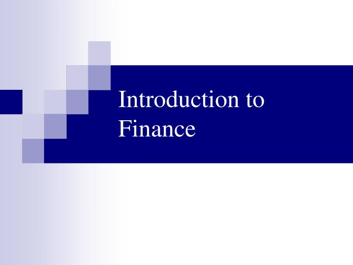 introduction to finance n.