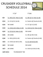 CRUSADER VOLLEYBALL SCHEDULE 2014