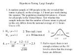 Hypothesis Testing  Large Samples