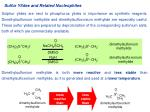 Sulfur Ylides and Related Nucleophiles