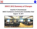ISSCC 2012 Summary of Changes