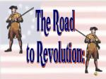 The Road to Revolution: