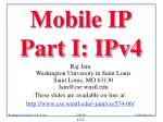 Mobile IP Part I: IPv4