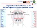 Progress towards steady state on the National Spherical Torus Experiment (NSTX)