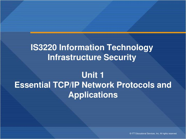 is3220 information technology infrastructure security n.
