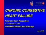 CHRONIC CONGESTIVE HEART FAILURE American Heart Association in collaboration with