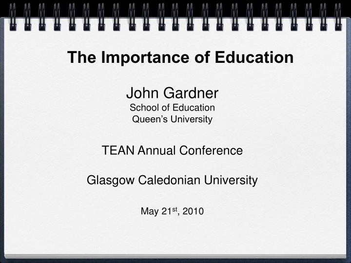 the importance of education n.