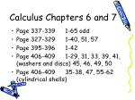 Calculus Chapters 6 and 7