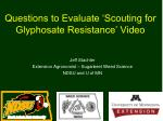 Questions to Evaluate 'Scouting for Glyphosate Resistance' Video