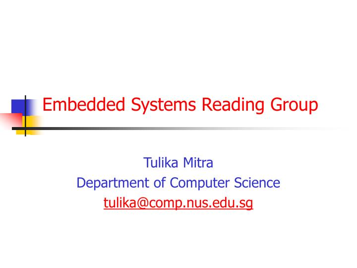 embedded systems reading group n.