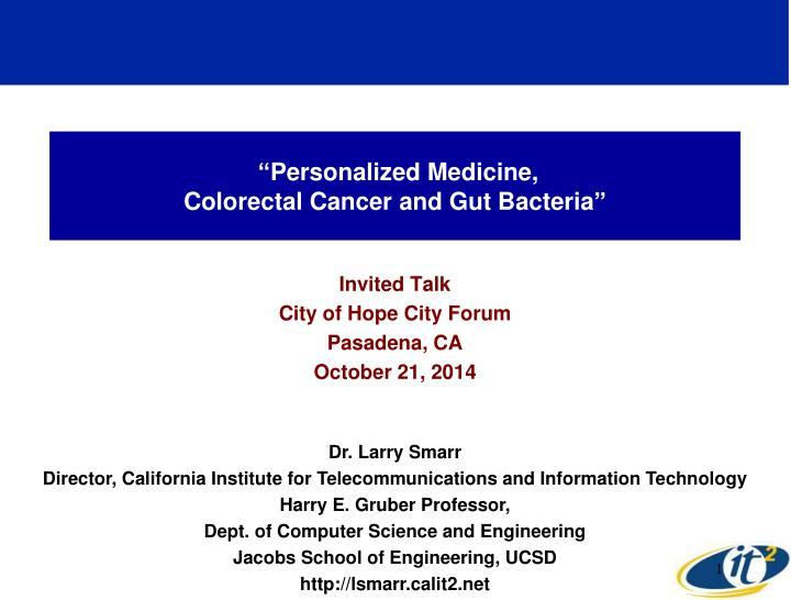 personalized medicine colorectal cancer and gut bacteria n.