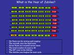 What is the Year of Jubilee?