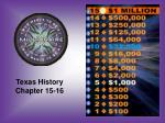Texas History Chapter 15-16