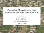 Proposition 46: Analysis of Fund Expenditure and Areas of Overpayment