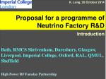 Proposal for a programme of Neutrino Factory R&D
