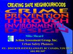 Action Assessment Group, Inc. Urban Safety Planners