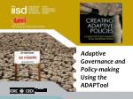 Adaptive Governance and Policy-making Using the  ADAPTool