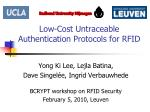 Low-Cost Untraceable Authentication Protocols for RFID
