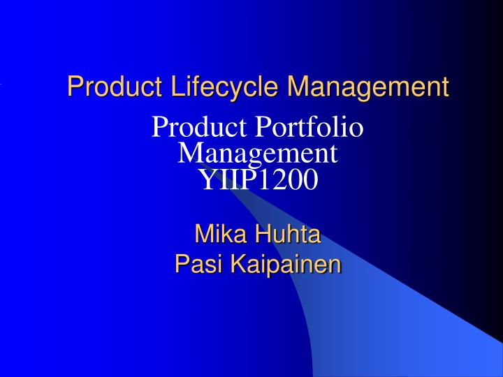 product lifecycle management n.