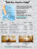 Deposit of $50 pp (To Hold Cabin) 2 nd Payment of $150 by March 1st Final Pay by April 27, 2013