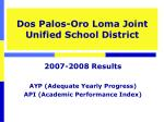 Dos Palos-Oro Loma Joint Unified School District