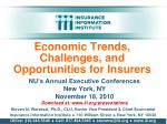 Economic Trends, Challenges, and Opportunities for Insurers