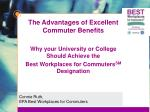 Connie Ruth, EPA Best Workplaces for Commuters
