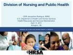 Division of Nursing and Public Health