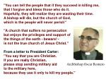 """""""You can tell the people that if they succeed in killing me,"""