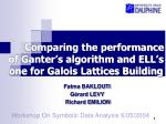 Comparing the performance  of Ganter's algorithm and ELL's one for Galois Lattices Building
