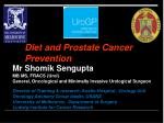 Diet and Prostate Cancer Prevention