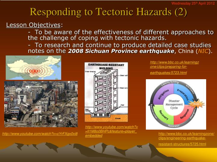 responding to tectonic hazards 2 n.