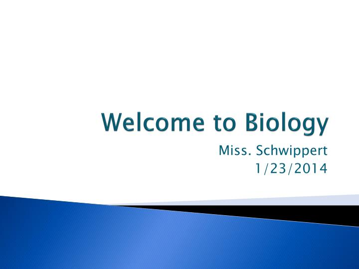 welcome to biology n.