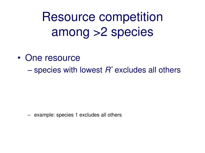 resource competition among 2 species n.